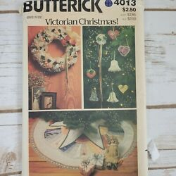 Butterick 4013 Sewing Pattern Victorian Christmas Ornaments Decorations