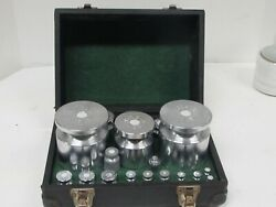 Vintage Toledo Scale Co Weights With Case 19 Weights