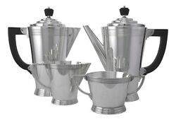 Mappin And Webb Silver Plate - Keith Murray Art Deco - 4 Piece Tea Set