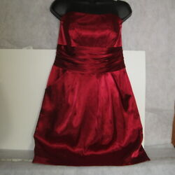 David's Bridal Size 10 Strapless Above Knee Red Style 83707 New