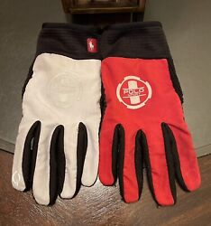 Sport Gent's Size Medium Texting Running Gloves White And Polo Red