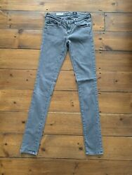 Ag Skinny Jeans Size 6 Grey Inseam 30 High Rise Waist By Adriano Goldschmied