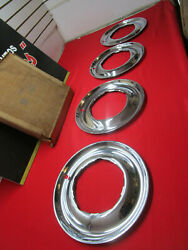 1950-1956 Dodge Plymouth Car Wheel Trim Ring Hubcap Wheel Cover Nos Beauty Ring