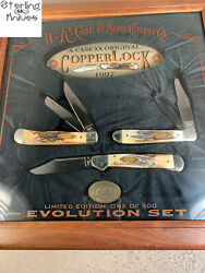 1997 Case Usa Stag Copperlock Limited Edition 144 Of 500 Evolution Knife Set
