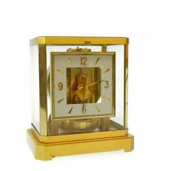 Jaeger-lecoultre Perpetual Clock Atmos Secondhand White Dial Gold Jaeger