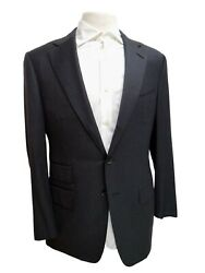 100 Authentic Tom Ford 2 Piece Striped Grey Wool Men's Suit Us 42 Eu52 R 4000