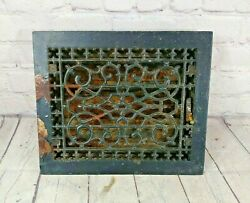 9 5/8 X 11 5/8 Cast Iron Floor Wall Register Heat Grate Vent Grille Louver