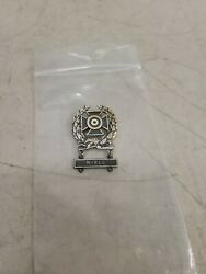 Wwii Krew Sterling Sharpshooter Pin With Sterling 1k Rifle Qualification Bar
