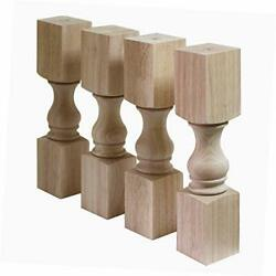 14 Solid Unfinished Rubber Wood Furniture Legs Replacement Bench Legs Coffee...