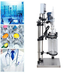 3l Double Jacketed Glass Reactor Digital Lab Chemical Glass Reaction Kettle 110v