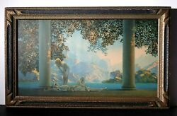 1920's Listed American Maxfield Parrish Original Daybreak House Of Art Framed