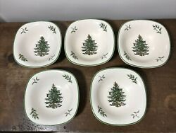 6 Spode Christmas Tree 5 Small Square Dip Bowl Dishes
