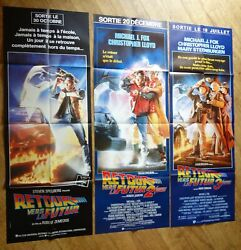 Back To The Future Sci-fi 3 Original French Movie Poster Door Panel '80s