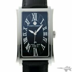 Cuervo Y Sobrinos Prominente Solotempo Date Auto Black A1012 Ss Menand039s Watch
