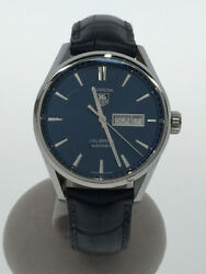 Tag Heuer Carrera Calibre 5 War201e Automatic Winding Analog Leather Menand039s Watch