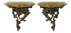 Antique French Baroque Style Wall Bracket, A Pair