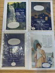 Vintage Lot Of 4 Fairy Soap Ads Different Designs Fairbank Co. Bath And Toilet