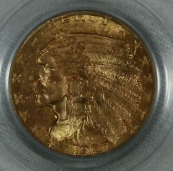 1927 Indian Gold Quarter Eagle. 2.5 Pcgs Ms63 Old Green Label 799.770