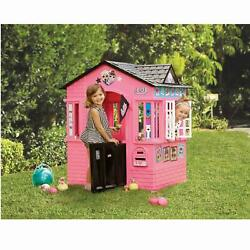 Girls Pink Play House Lol Surprise Indoor Outdoor Cottage Playhouse With Glitter
