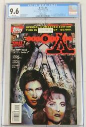 X-files 1 Cgc 9.6 1st Scully Mulder Comics Tv 1995 Topps Serial Number Variant