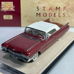 1/43 Glm Stamp Cadillac Series 62 Convertible 1960 Pompeian Red Met Stm60302