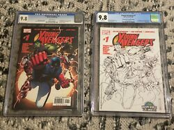 Young Avengers 1 - Cgc 9.8 - 1st Print And Wizard World Sketch Variant Cover