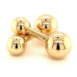 And Co Estate Barbell Cufflinks 14k Yellow Gold Tif77