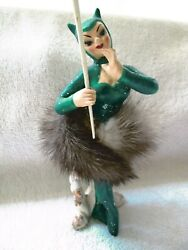 Vintage Sonsco Japan She Devil Cat Woman With Fur Skirt And Scepter