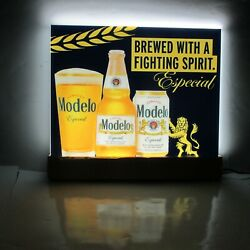 Modelo Especial Of Mexico Beer Fighting Spirit Ufc Led Bar Sign New In Box