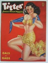 Titter Vol. 1 6 Fall, 1944 Fn Peter Driben Cover Pin-ups 6th Issue