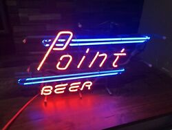 Vintage 1970s Point Beer Neon Sign Advertising Stevens Point Wis Wi Wisconsin