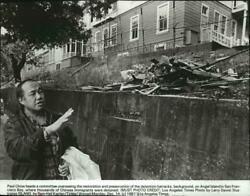 1981 Press Photo Paul Chow Heads Committee For Restoration On Angel Island
