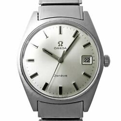 Omega Geneva Ref.136.041 Manual Winding Silver Stainless Antique Menand039s Watch