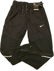 Nike Therma Essential Running Pants Joggers Black Cu5518-010 Mens Size Small New