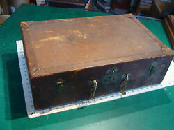 Vintage Original 22 X 14 X 7 Hermes Leather Luggage Wow Very Early Uncleaned