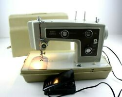 Sears Kenmore Portable Sewing Machine Model 148 14221 W/ Pedal And Hard Case