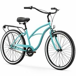Electric-bicycles 17inch/one Size Teal Blue W/ Black Seat/grips 26 / 3-speed