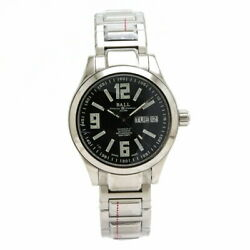 Ball Engineer Master Nm1016c Unused Watch Day-date Black Dial Ss Menand039s At