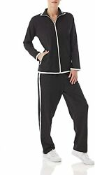 Women's Striped Sweat Suit Set – 100 Cotton Pants And Jacket Outfit