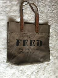 Feed the children of the world bag tote leather canvas $39.00