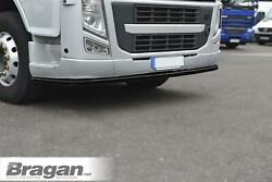 Low Bar + Mud Flaps X2 For Volvo Fh Series 2 And 3 Stainless Steel Bumper - Black