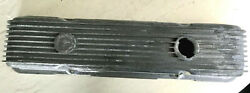 Vtg Cal Custom Finned Valve Cover Chevy Small Block 40-2300 Man Cave Decor As Is