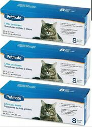 Petmate 3 Pack of Booda Dome Clean Step Cat Box Liners Jumbo 24 Liners