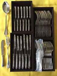 Rubans Louis Xvi Christofle Dinner Set Forks Spoons Knives Silver Plated New