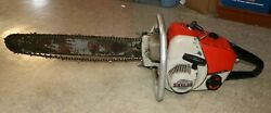 """Vintage Stihl S10 Chainsaw And 20"""" Bar 510 / With New Chain"""