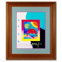 Peter Max Original Signed Mixed Media A Painting Year Of 2250 30x26 Framed Coa