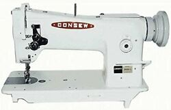 Consew 206rb-5 Walking Foot Needle Feed Industrial Sewing With Table And...