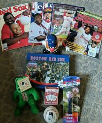 Red Sox Lot - Clemons Bb Pez Cards Puzzle Yearbooks Beanie Baby Mr. Potato
