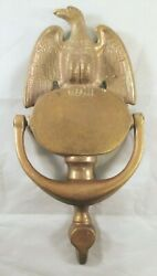 Brass Eagle Door Knocker India Vintage Antique Architectural Salvage Home House