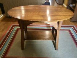 Genuine Limbert Antique Mission Arts And Crafts Oak Oval Library Table 146
